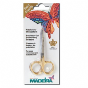 Madeira Gold-Plated Embroidery Scissors - Double Curved